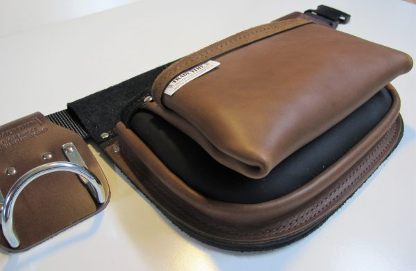 Style 500 Leather Tool Bag Angled View