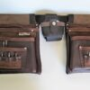 Big Bag Double Front Leather Tool Bag with Tools