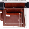 Double Vineyard Tool Bag Dimensions