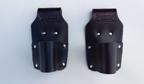 2 x Leather Hammer Holders Front View