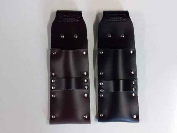 2 x Single Chisel Pouch with Drill or Nail Gun Holder Front View