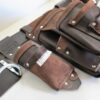 Ultimate Tradie Leather Tool Bag Angled
